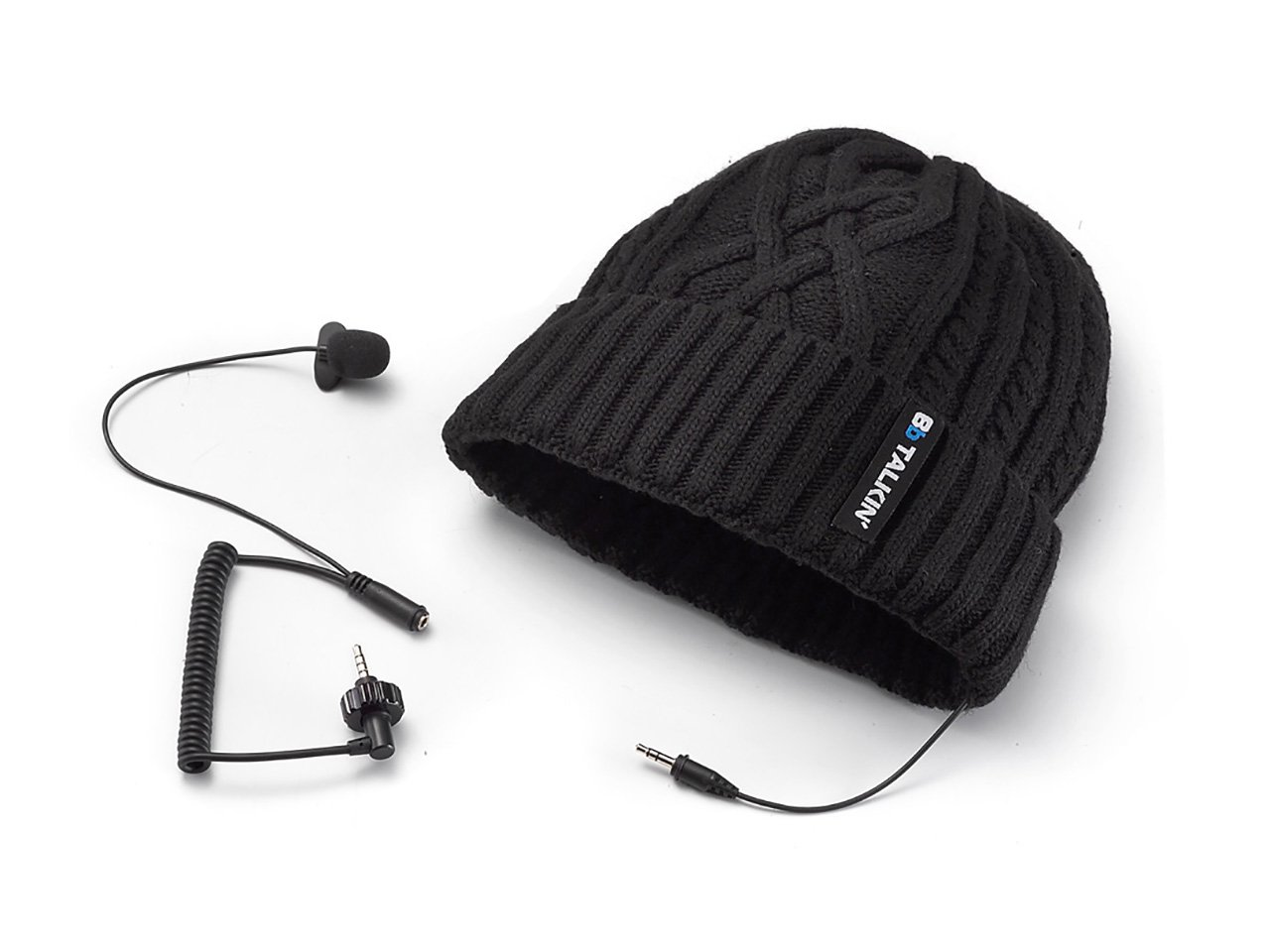BbTALKIN microphone and earpad with beanie (snowset) b05