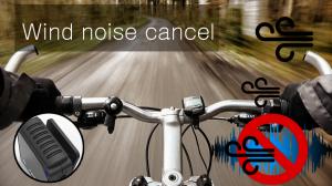 BbRadio has wind noise cancel