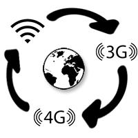 BbRadio heeft een wereldwijd connectie en bereik via 3G - 4G of Wifi netwerk