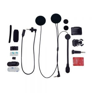 BbTalkin Full helmet headset layout accessories