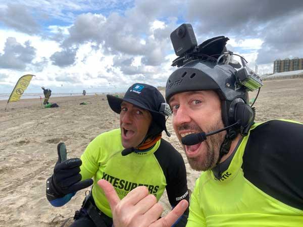 Life conversation while kitesurfing in Zandvoort